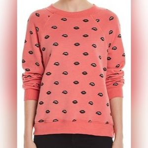 Wildfox nwot medium lip service sweater